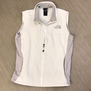 The North Face white grey vest Medium